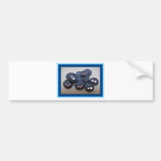 blueberries bumper sticker
