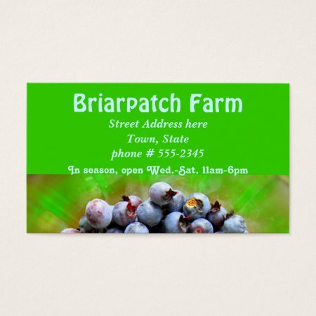 Green Blueberry Farming Business Cards