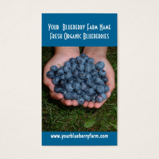 Blueberries for you to eat! business card