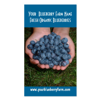 Blueberries for you to eat! business cards