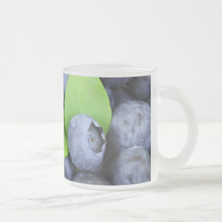 Blueberries Frosted Glass Coffee Mug