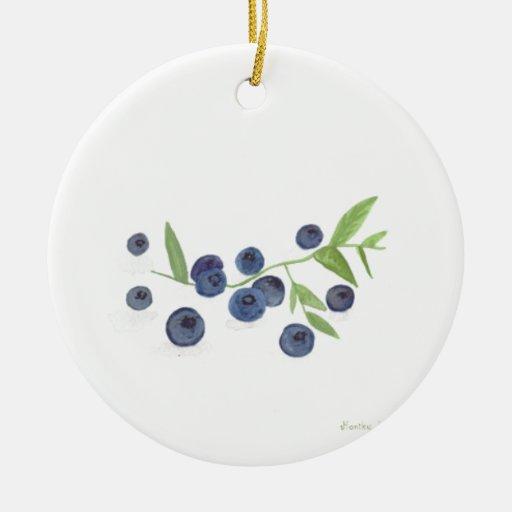 Blueberries fruit kitchen decor christmas ornament