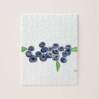Blueberries fruits kitchen decor jigsaw puzzle