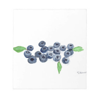 Blueberries fruits kitchen decor notepad