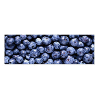 Blueberries Gift Tag Template Double-Sided Mini Business Cards (Pack Of 20)