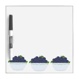Blueberries in a Dish Dry Erase Board