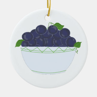 Blueberries in a Dish Ornament