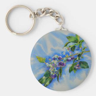 Blueberries Keychain