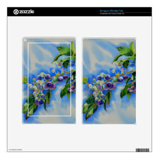 Blueberries Kindle Fire Decal