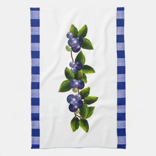 Blueberries Kitchen Towel