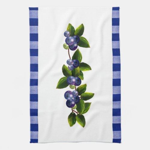 Blueberries Kitchen Towel