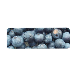 Blueberries Label