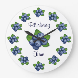 Blueberries Large Clock