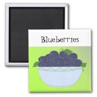 Blueberries Refrigerator Magnet