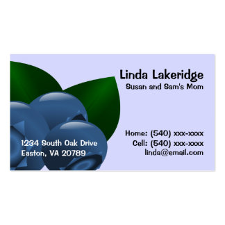 Blueberries Mommy Contact  Info Card Double-Sided Standard Business Cards (Pack Of 100)