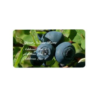 Blueberries on a Bush Label