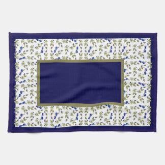 Blueberries On Vine border kitchen towel