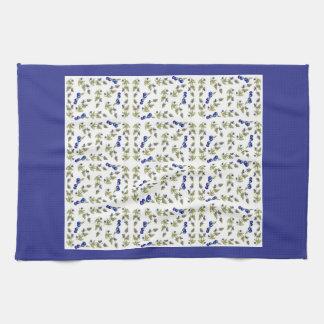 blueberries on vine kitchen towel, Kristie Hubler