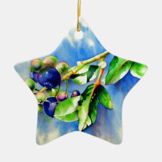 Blueberries Christmas Tree Ornaments