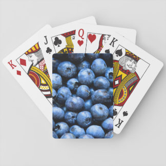 Blueberries pattern playing cards