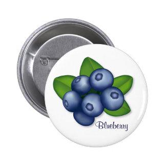 Blueberries Pinback Button
