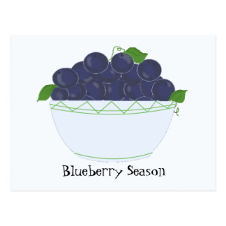 Blueberries Post Cards