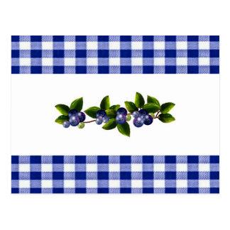Blueberries Recipe Card Postcard