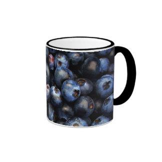 Blueberries Ringer Coffee Mug