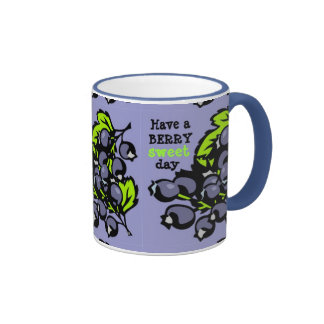 Blueberries Ringer Mug