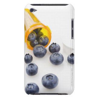 Blueberries spilling from prescription bottle iPod Case-Mate cases