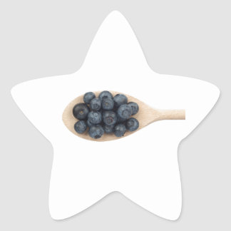 Blueberries Star Sticker