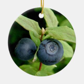 Blueberries, Vaccinium ovalifolium Ceramic Ornament