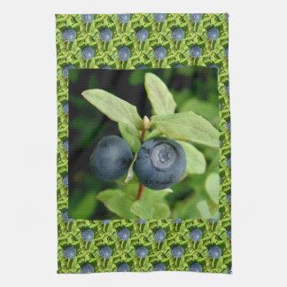 Blueberries, Vaccinium ovalifolium Hand Towels