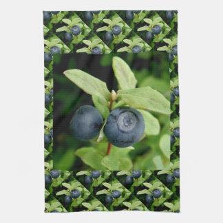 Blueberries, Vaccinium ovalifolium Kitchen Towel