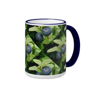 Blueberries, Vaccinium ovalifolium Ringer Mug
