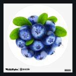 """Blueberries Wall Decal<br><div class=""""desc"""">Customizable wall decals to decorate your home,  fresh and juicy,  you can change size and shape,  and add any text you like. Look at my big collection of fruits and vegs at http://www.zazzle.com/6hands. :)</div>"""