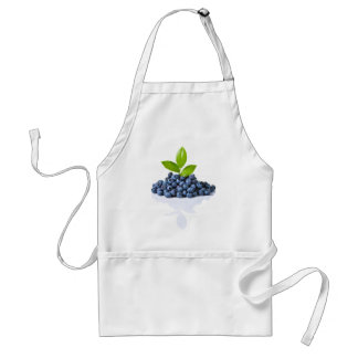 Blueberries With Green Leaves Adult Apron