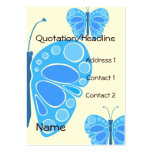 Blueberry 60s Whimsical Butterfies Business Card