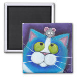 Blueberry and Wee Mousey Magnet