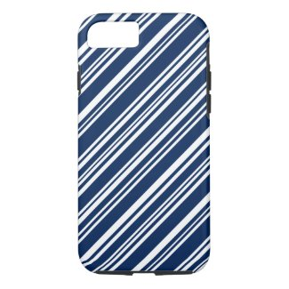 Blueberry and White Candy Stripes iPhone 7 Case