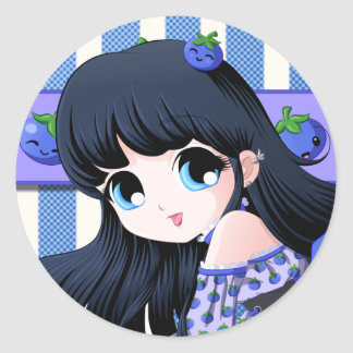 Blueberry Anime Stickers