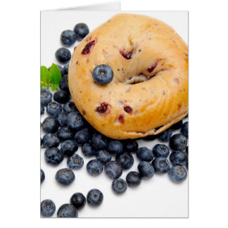 Blueberry Bagel Greeting Card