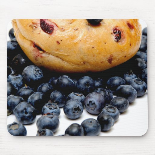 Blueberry Bagel Mouse Pad