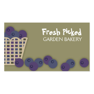blueberry basket baking cooking business cards ...