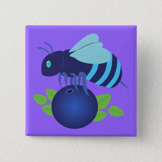Blueberry Bee Button