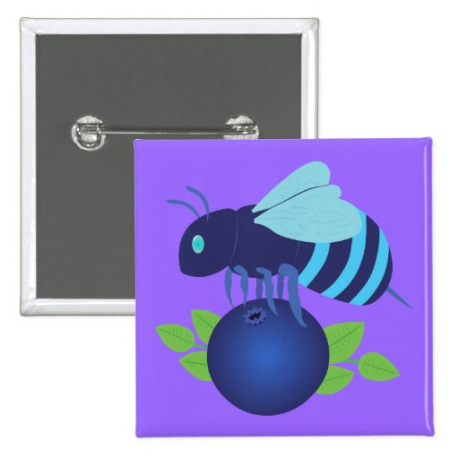 Blueberry Bee Buttons