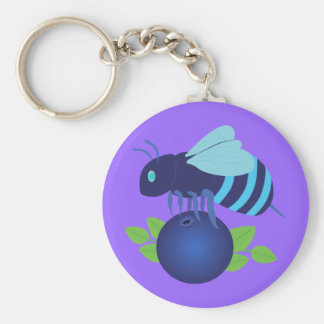 Blueberry Bee Keychains