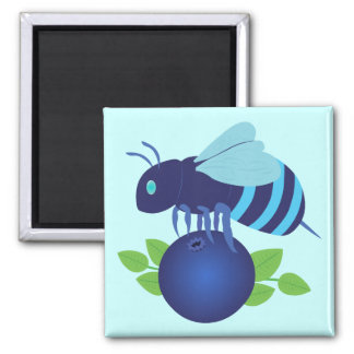 Blueberry Bee Magnet