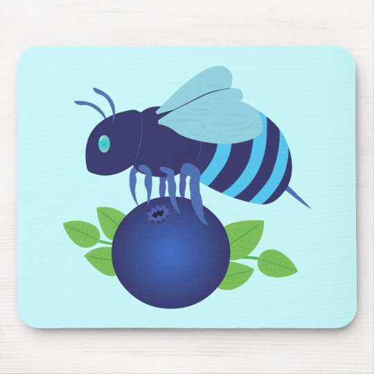 Blueberry Bee Mouse Pad