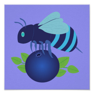 Blueberry Bee Poster
